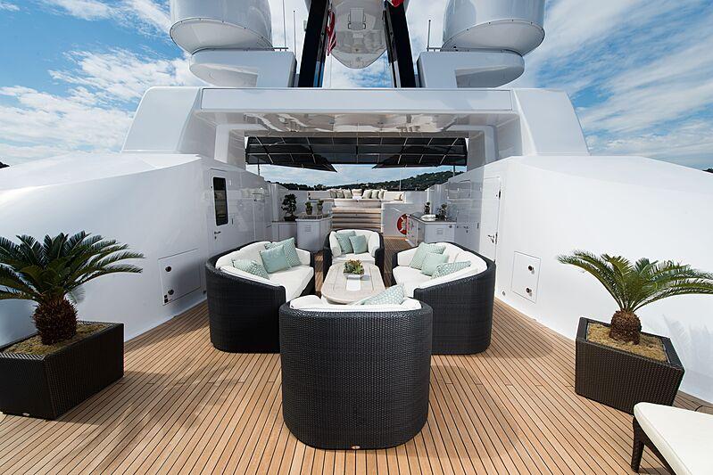 Sea Walk yacht sun deck