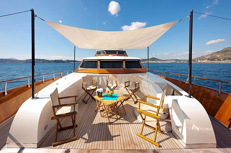 Saudades yacht foredeck