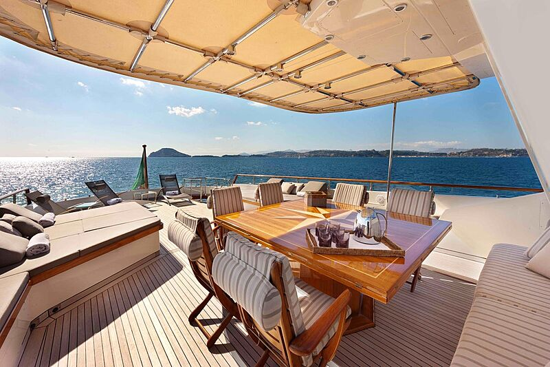 Saudades yacht deck
