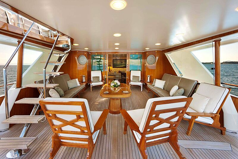 Saudades yacht aft deck