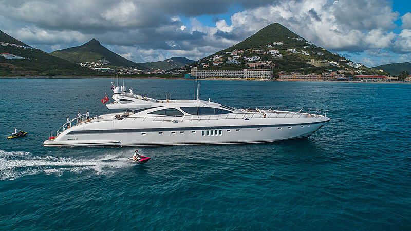 Jomar yacht at anchor