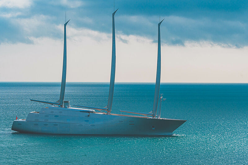 Sailing yacht A off the Isle of Man