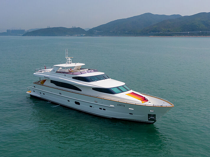 Victorious yacht cruising