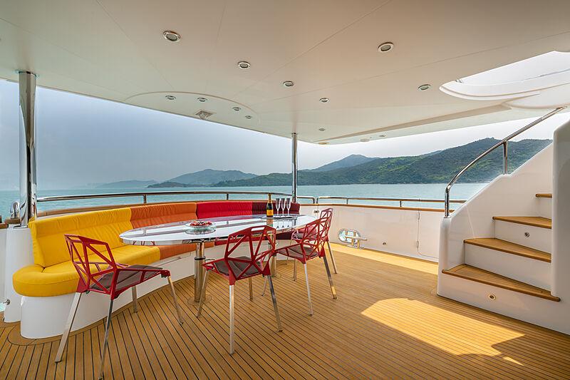Victorious yacht aft deck