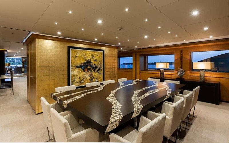 Rahil yacht dining