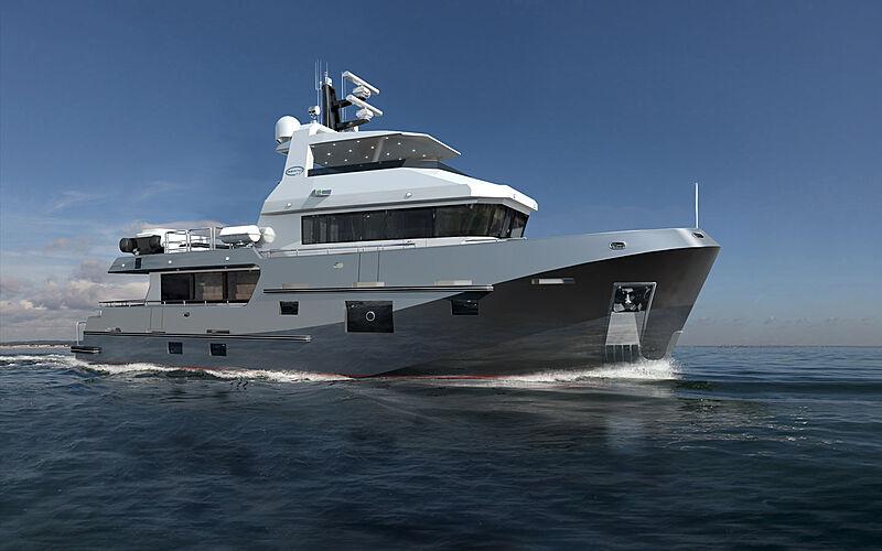 Bering 77 yacht exterior design