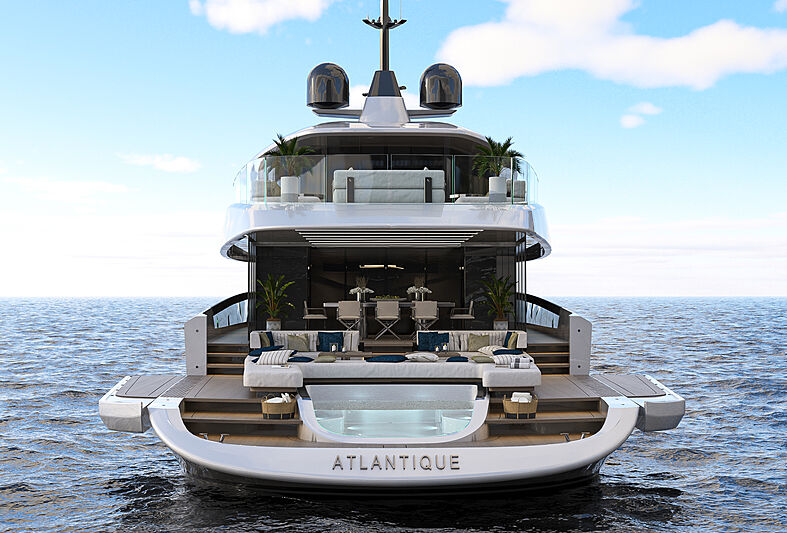Columbus Atlantique 43m yacht exterior design