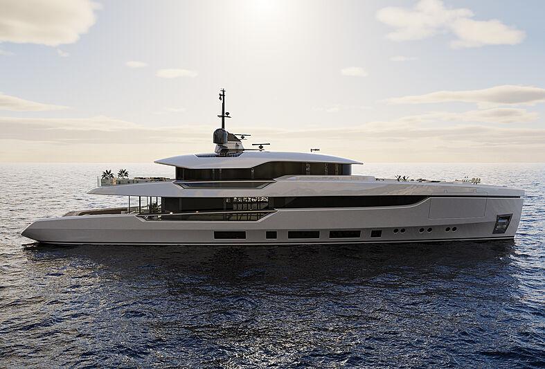 Columbus Atlantique 43m yacht exterior design