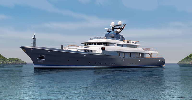 Commodore 57 concept yacht exterior design
