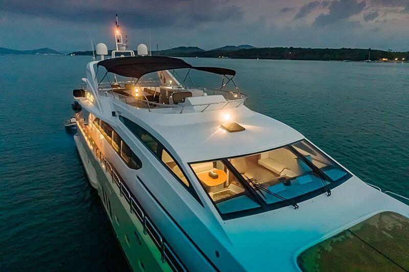 Mia Kai yacht at night