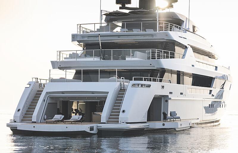 Cloud 9 yacht anchored