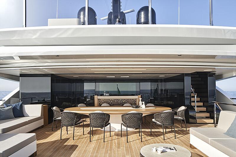 Cloud 9 yacht owner deck