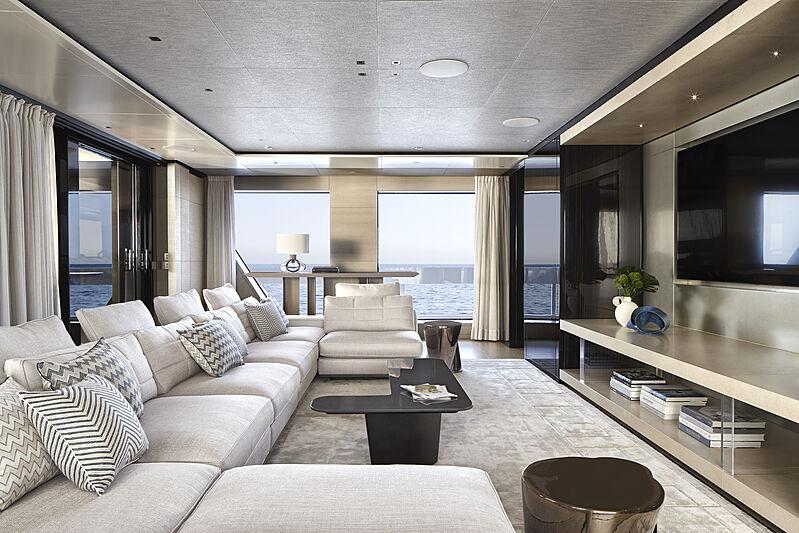 Cloud 9 yacht owner deck saloon