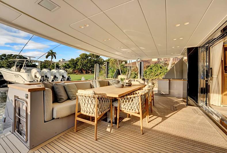 AD 52 yacht aft deck