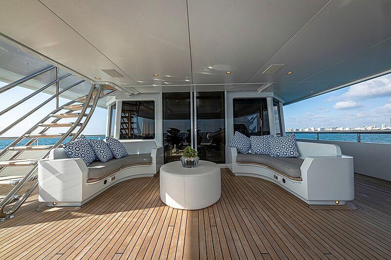 Arete yacht deck