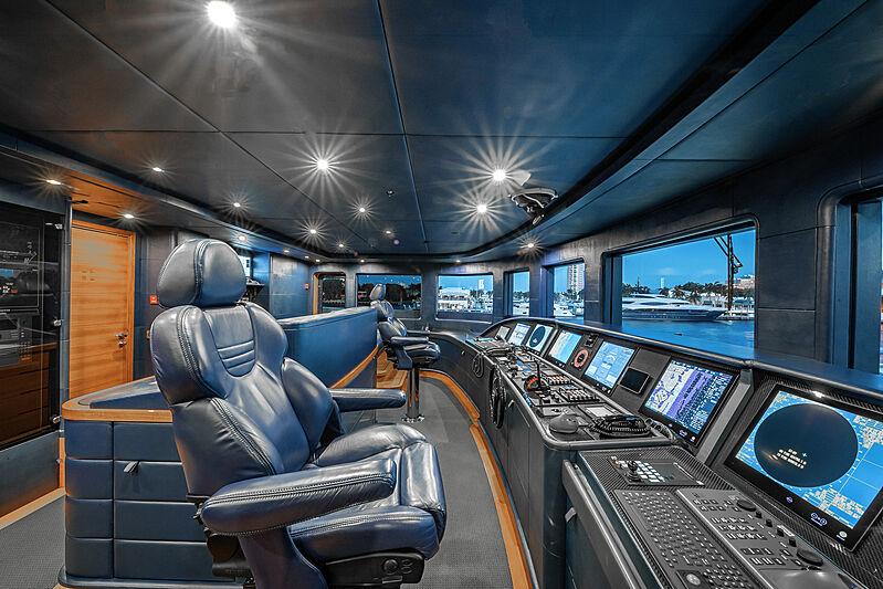 Felix yacht wheelhouse