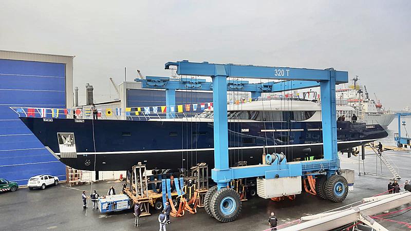 L'Aquila II yacht launch in Pendik