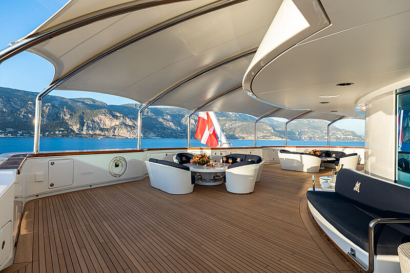 Lady Moura yacht deck