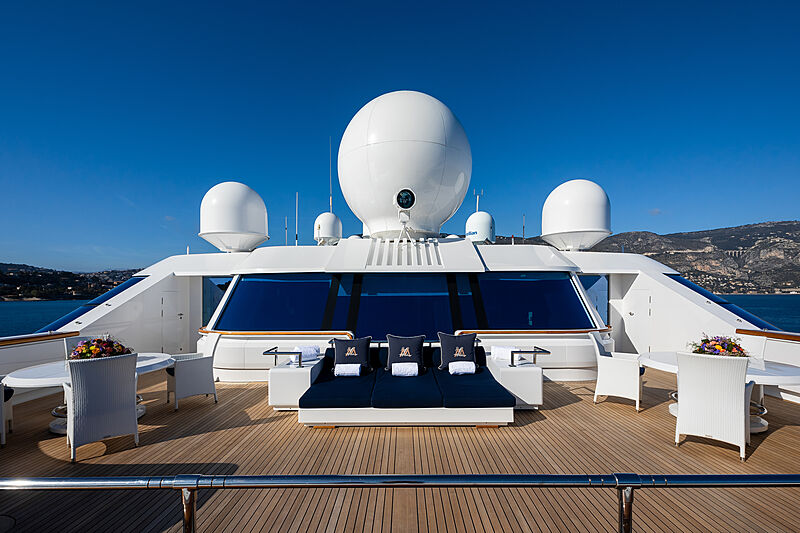 Lady Moura yacht sundeck