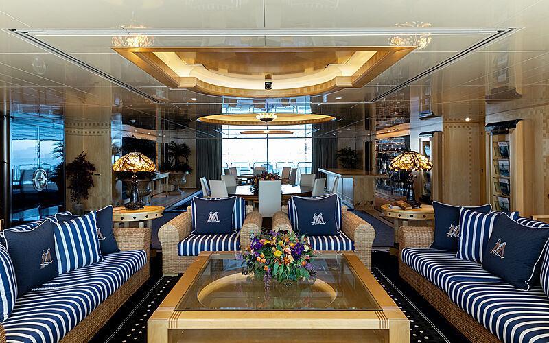 Lady Moura yacht saloon
