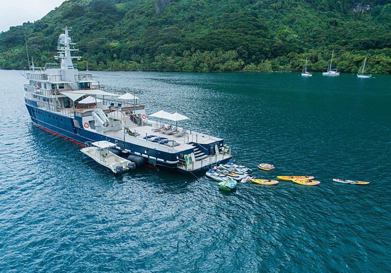 Latitude yacht anchored