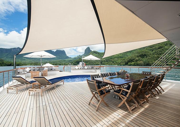 Latitude yacht aft deck