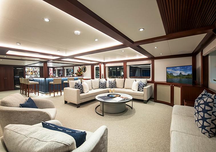 Latitude yacht saloon