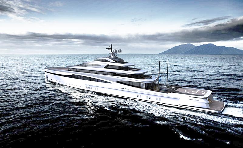 ARK yacht concept exterior design