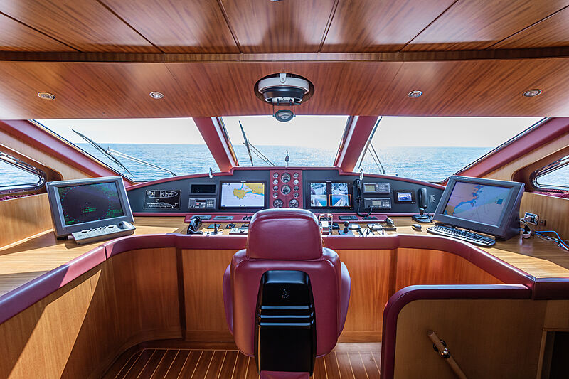 Tex yacht wheelhouse