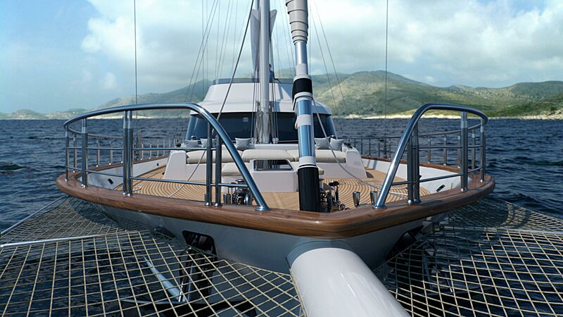 Acapella yacht foredeck
