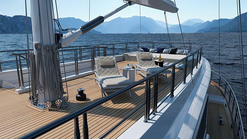 Acapella yacht sundeck
