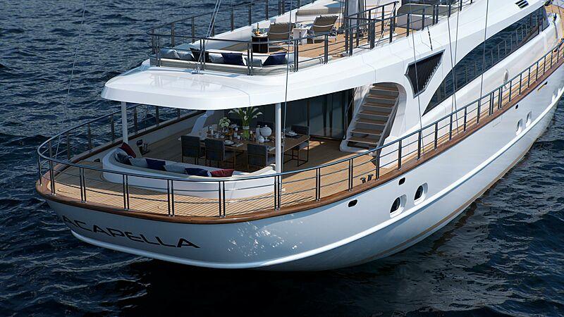 Acapella yacht stern