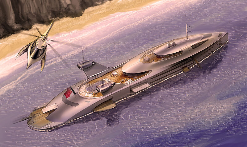 Cobra yacht concept exterior design