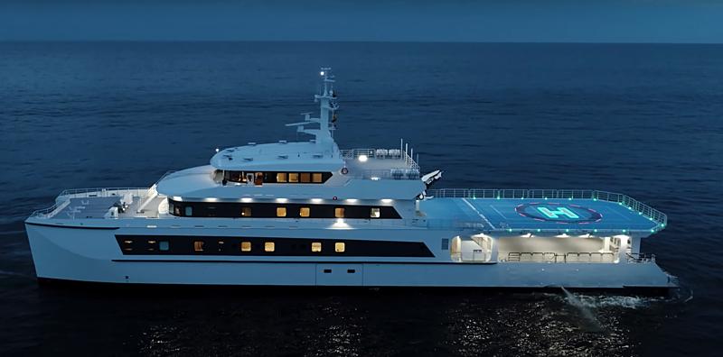 Wayfinder yacht anchored