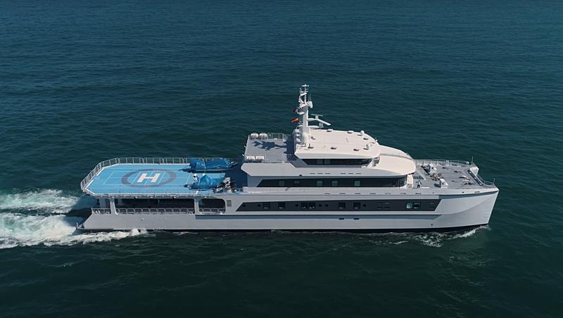 Wayfinder yacht cruising