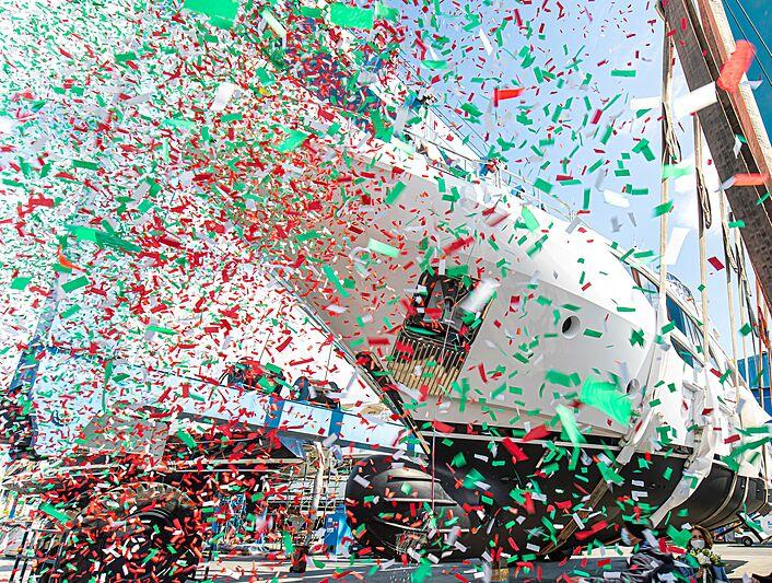 Benetti Delfino 95 BD111 launch in Viareggio