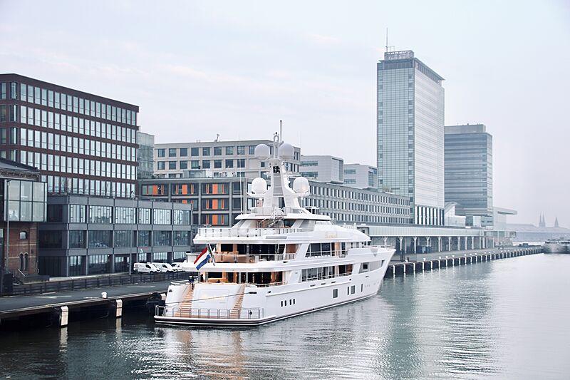 Boardwalk yacht in Amsterdam
