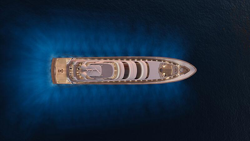 Royal Huisman Project 406 yacht exterior design