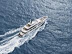 Moskito yacht on sea trials