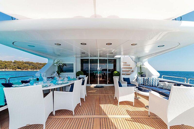 Bang! yacht aft deck