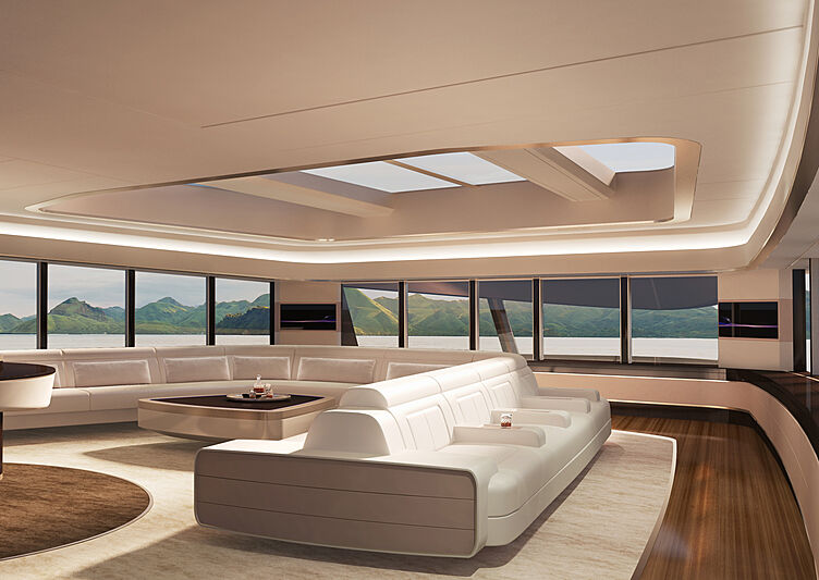 Damen SeaXplorer 105 yacht concept interior design