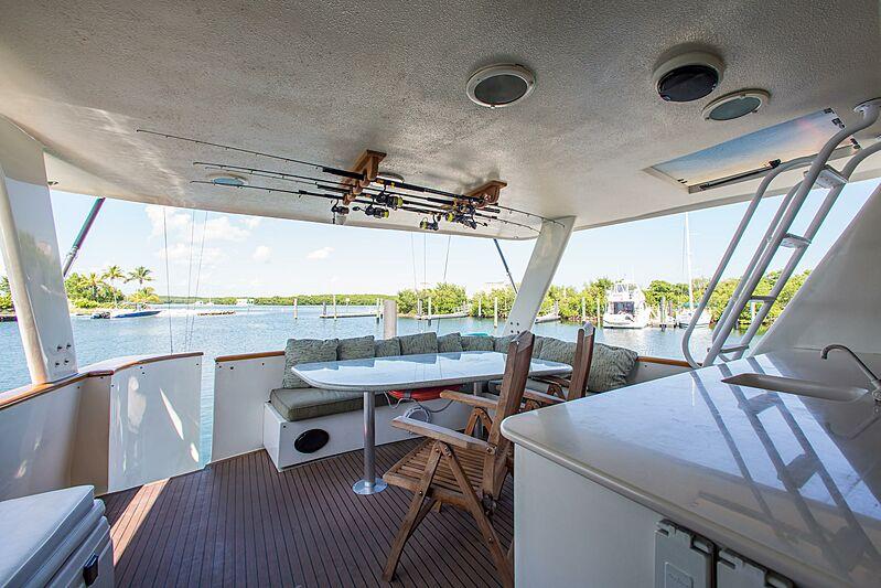 Catchin' Moments yacht aft deck