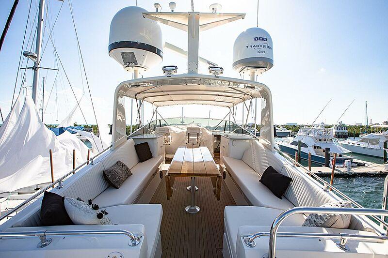 Catchin' Moments yacht upper deck