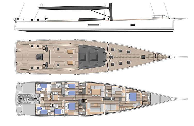Taniwha yacht layout