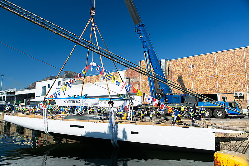 Taniwha yacht launch in Cape Town