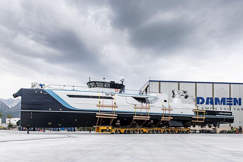 Time Off yacht launch at Damen Antalya shipyard