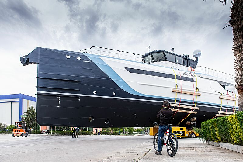 Time Off yacht support launch at Damen Antalya shipyard
