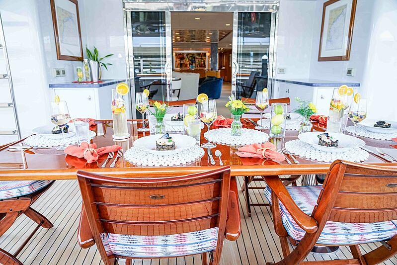 Wonderland yacht aft deck