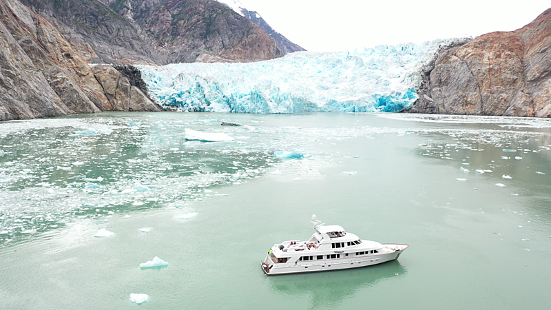 Wonderland yacht in Alaska