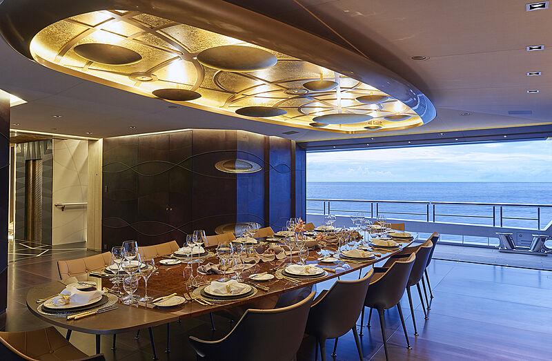 Artefact yacht dining